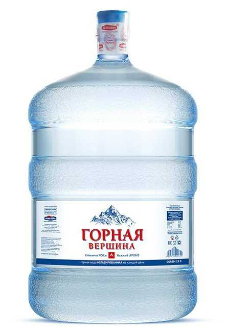Вода минеральная питьевая столовая