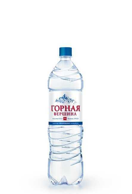 Минеральная вода «Горная вершина» негаз. 1,5л (в упк. 6 шт)