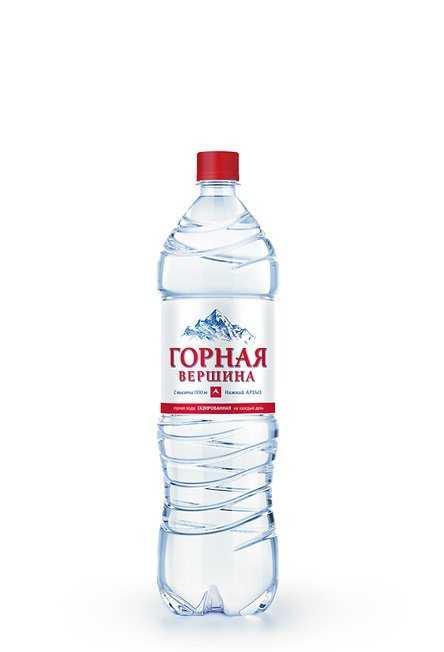 Минеральная вода «Горная вершина» газ. 1,5л (в упк. 6 шт)