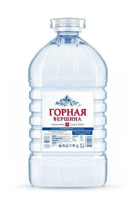Минеральная вода «Горная вершина» негаз. 5 л. (в упк. 2шт)