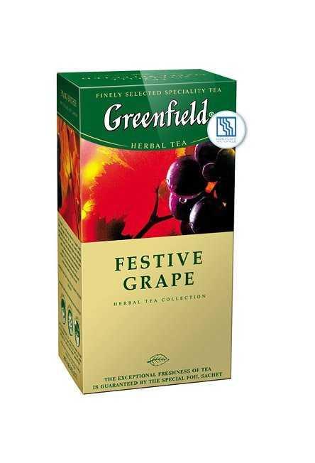 Чай Гринфилд черный Festival Grape 25*2г с ароматом винограда