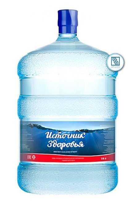 """Вода питьевая артезианская """"Источник здоровья"""" 19л"""
